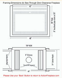 Click to open See-Through Zero Clearance Framing Dimensions - b